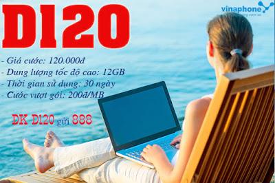 Học nhanh cách đăng kí gói cước D120 Vinaphone nhận ngay ưu đãi