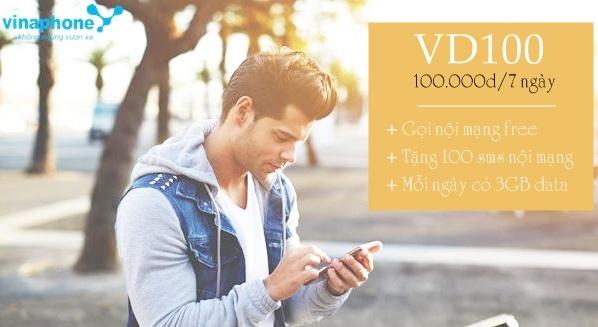 Ưu đãi 21Gb data tốc độ cao mỗi tuần từ  gói VD100 Vinaphone