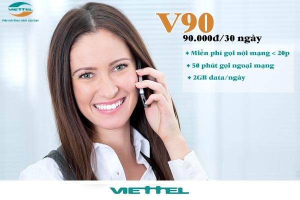 Hướng dẫn đăng ký gói V90 Viettel chỉ với 90.000 đồng