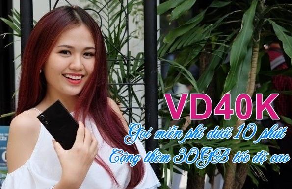 Cách nhận ưu đãi 30GB từ gói VD40K Vinaphone