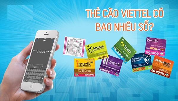 Bật mí chi tiết về thẻ cào Viettel có mấy số?