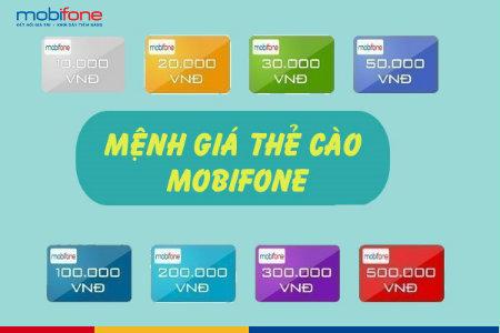 Tổng hợp các mệnh giá thẻ cào Mobi mới nhất hiện nay