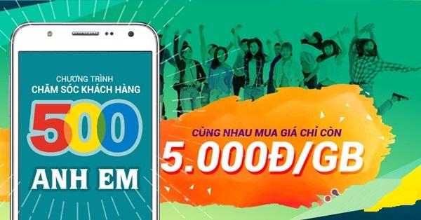 HOT: Mua 1GB data 3G Viettel với giá chỉ 5000đ