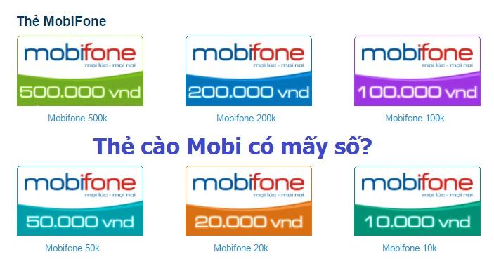 Làm sao để biết thẻ cào Mobi có mấy số?