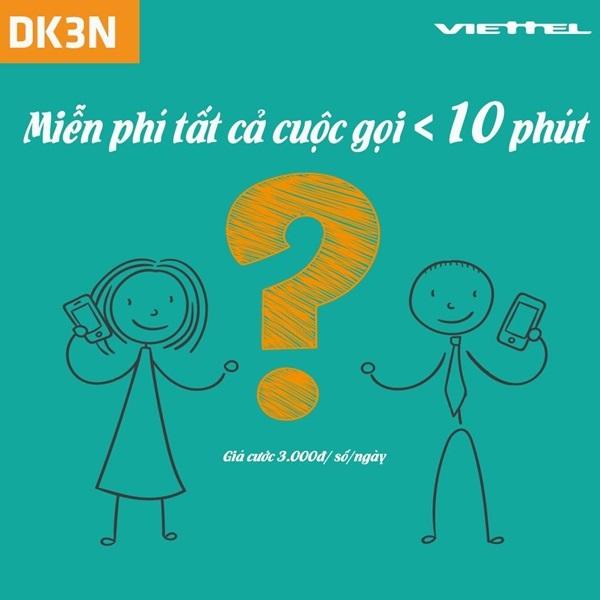 Cách đăng ký gói cước DK3N của Viettel