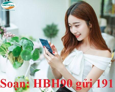 Nhận ngay ưu đãi data và gọi thoại miễn phí từ gói HBH90 Viettel