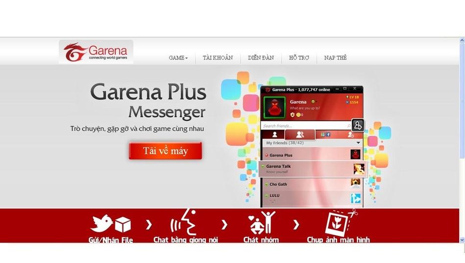 Thông báo trang chủ garena chính thức bị hacker tấn công