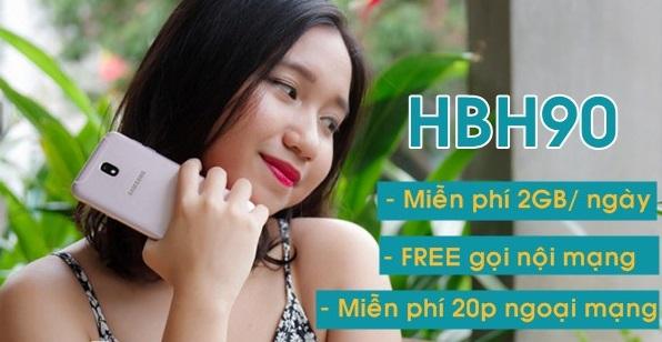 Cách nhận combo miễn phí data và gọi thoại từ  gói HBH90 Viettel