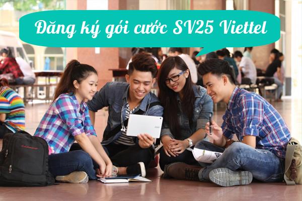 Hướng dẫn nhanh cách đăng kí gói SV25 Viettel nhận ngay ưu đãi lớn nhất