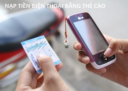 Hướng dẫn nạp tiền điện thoại bằng thẻ cào