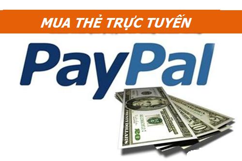 Chi tiết cách mua thẻ cào trực tuyến bằng paypal