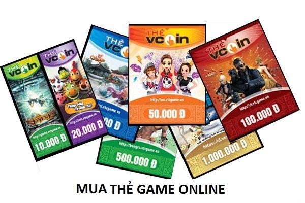 Cách mua thẻ game online đủ các mệnh giá khác nhau