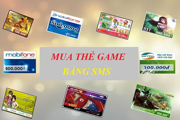 Tìm hiểu về dịch vụ mua thẻ game bằng sms