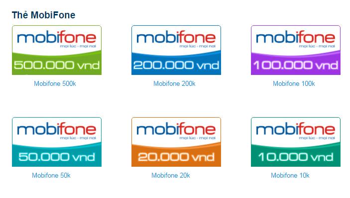 Thẻ cào mobifone hiện có bao số?