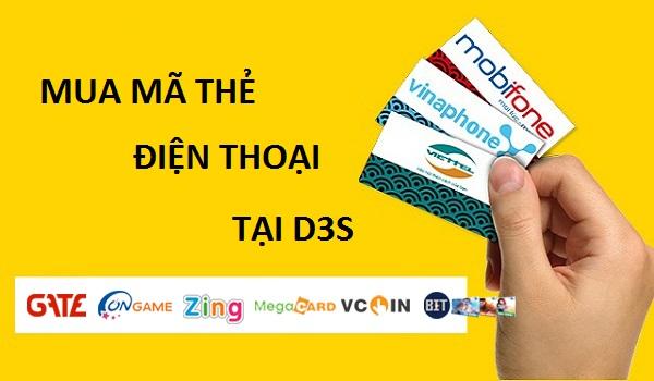 Hướng dẫn khách hàng mua mã thẻ điện thoại tại D3s