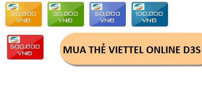 Cách đơn giản nhất để mua thẻ viettel online D3s
