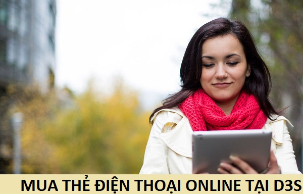 Làm sao để mua thẻ điện thoại online tại D3s
