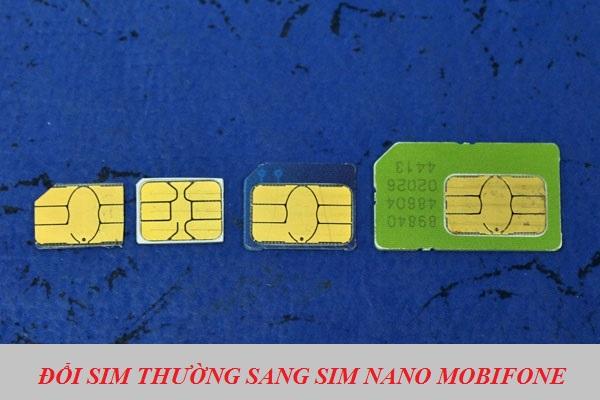 Cước phí đổi sim thường sang sim NANO Mobifone