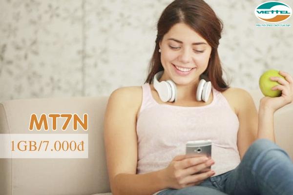 Đăng kí gói MT7N Viettel nhận ngay tới 1GB data