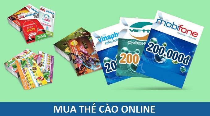 Địa chỉ mua thẻ cào online uy tín, giá rẻ hiện nay