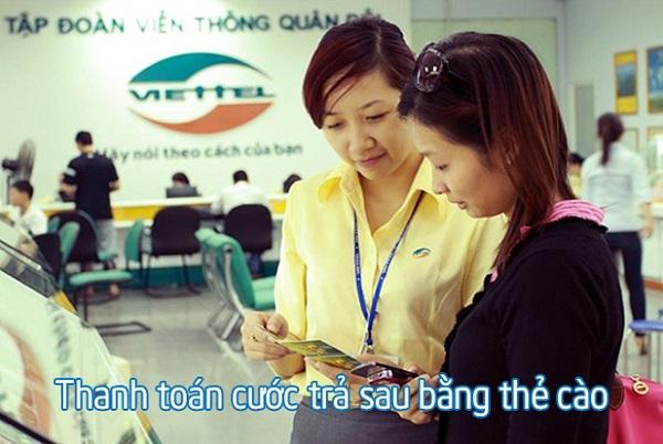Hướng dẫn thanh toán cước phí trả sau Viettel bằng thẻ cào
