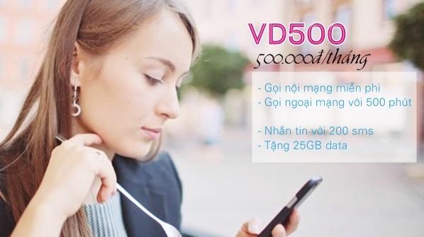 Chi tiết các ưu đãi hấp dẫn từ gói VD500 Vinaphone