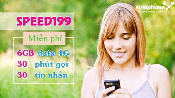 Cách nhận ưu đãi 6Gb data từ gói 4G SPEED199 Vinaphone