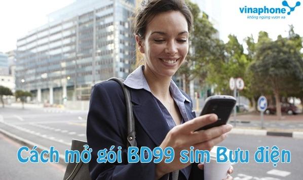 Cách đăng ký gói BD99 cho sim Bưu Điện Vinaphone