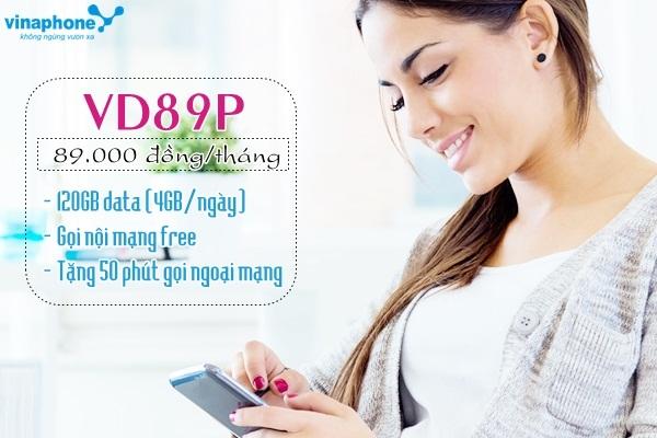 Tặng 120Gb data khi tham gia gói VD89P Vinaphone