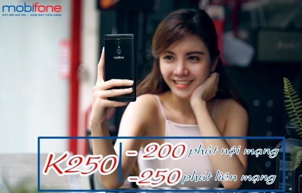 Nhận ngay ưu đãi 450 phút gọi miễn phí từ gói K250 Mobifone