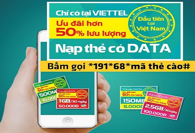 Thông tin về thẻ cào data 3G Viettel  mới nhất hiện nay