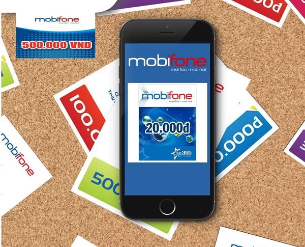 Nạp tiền Mobifone các mệnh giá và số ngày sử dụng tương ứng