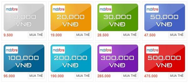 Các mệnh giá thẻ cào Mobifone và cách sử dụng