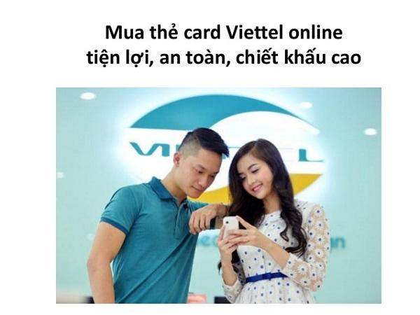 Mua card điện thoại Viettel 10k, 20k, 50k, 100k, 500k giá tốt nhất hiện nay