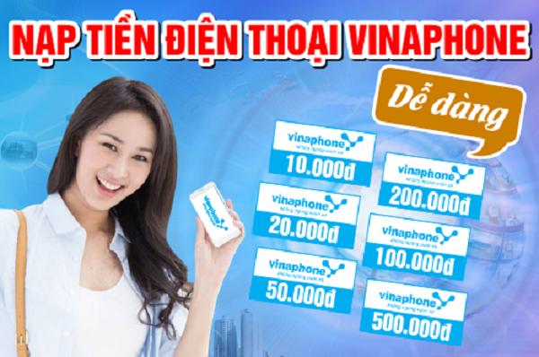 Hướng dẫn mua card điện thoại Vinaphone 50k đơn giản
