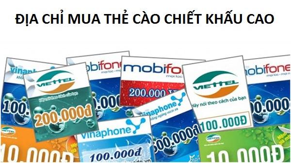 Website mua thẻ cào chiết khấu cao Muathe24h.vn