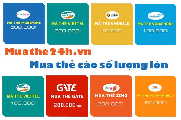 Hướng dẫn cách mua thẻ điện thoại tại Muathe24h.vn