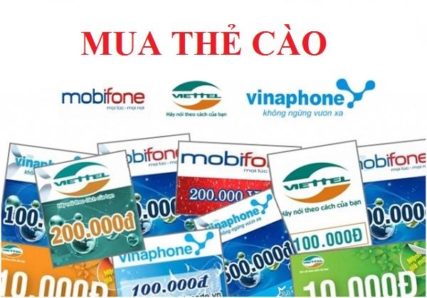 Hướng dẫn mua thẻ cào tại Muathe24h.vn