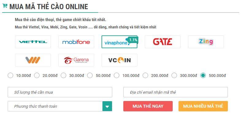 Mua thẻ Viettel online chiết khấu cao, nhanh nhất tại Muathe24h.vn