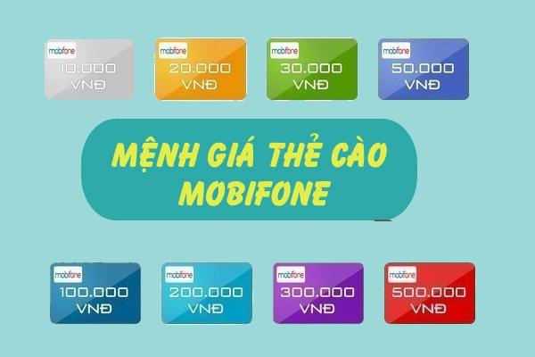Các mệnh giá thẻ cào điện thoại hiện nay
