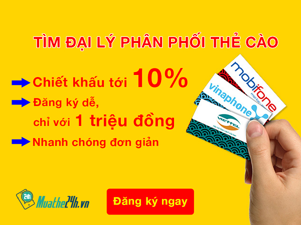 Giúp bạn trở thành đại lý thẻ điện thoại với Muathe24h.vn