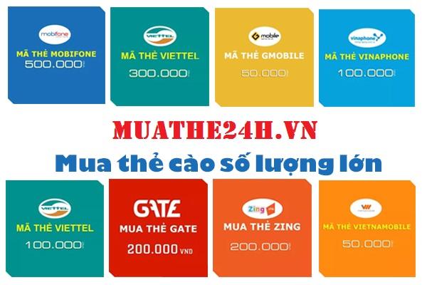 Hướng dẫn mua thẻ cào số lượng lớn tại Muathe24h.vn