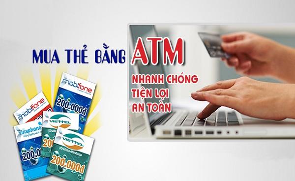 Hướng dẫn mua thẻ điện thoại bằng ATM e-banking