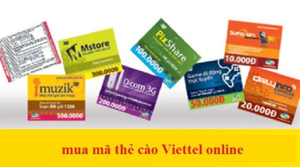 Hướng dẫn mua thẻ Viettel online giá ưu đãi