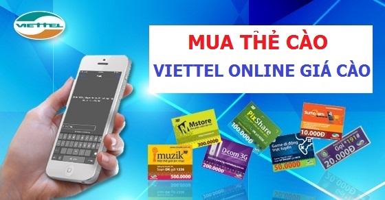 Mua thẻ cào điện thoại Viettel online có khó không?