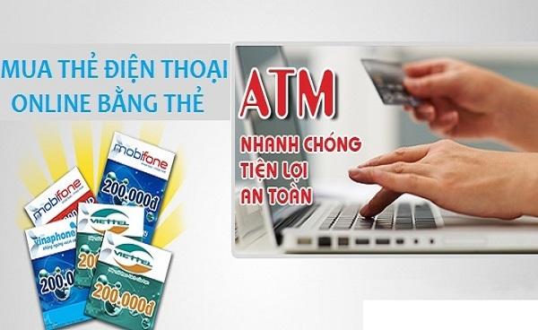 Cách mua thẻ điện thoại chiết khấu cao bằng thẻ ATM