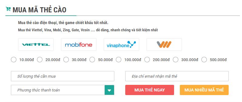 Mua thẻ cào online  nhận chiết khấu cao nhất bạn đã biết hay chưa?