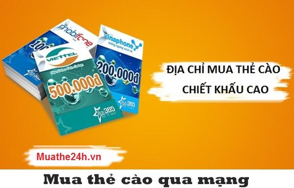 Dùng tài khoản ngân hàng mua thẻ cào giá rẻ trên Muathe24h.vn