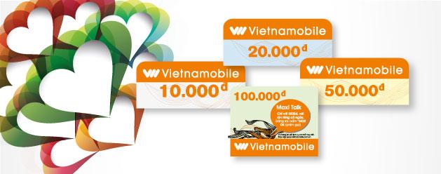 Danh sách các mệnh giá thẻ Vietnammobile mới nhất hiện nay