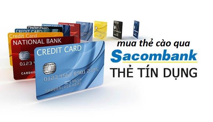Làm sao để mua thẻ cào online qua Sacombank?